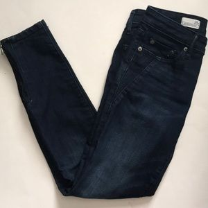 gap always skinny zippered ankle jeans